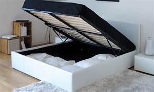 Lit Une Place Avec Rangement : lit coffre groupon shopping ~ Teatrodelosmanantiales.com Idées de Décoration