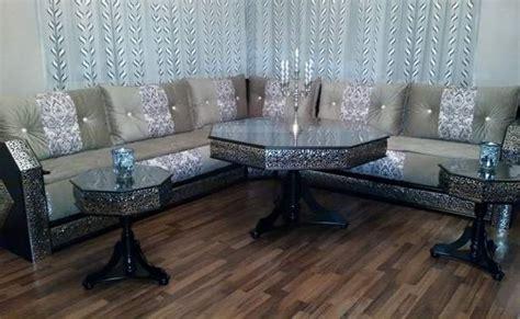 canape designe étonnant salon marocain blanc argenté style moucharabieh