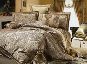 newest elegant gold 4pcs colorful imitated silk king size bed duvet comforter bedding set xc021 jpg