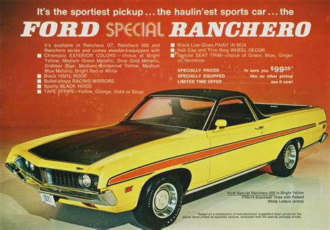 ford ranchero  replace ranger   compact pickup gas