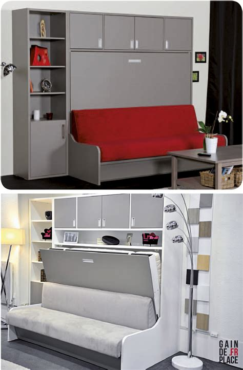 bureau astucieux canapé lit escamotable distribué par gaindeplace fr