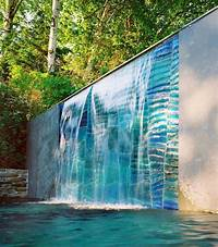 water wall fountain 54 Garden Water Features: Awesome Outdoor Design Ideas