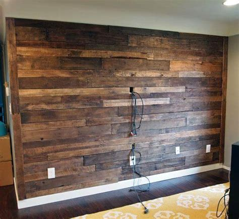 pallet plank wall diy recycled pallet wall 99 pallets