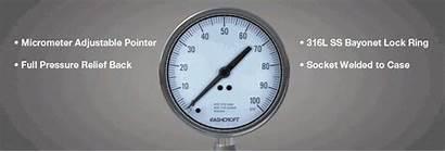 Gauge Pressure Ashcroft Temperature Process Asme Safety
