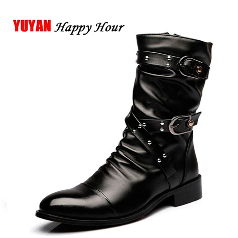 New Autumn Winter Boots Men Motorcycle Genuine