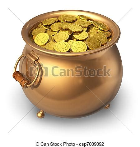 clip of pot of gold coins pot of gold coins isolated on white csp7009092 search