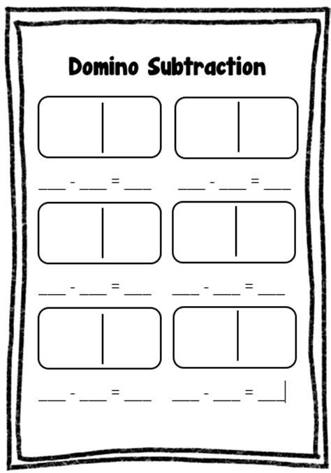 15 Best Images Of Domino Subtraction Worksheet  Domino Subtraction Math Worksheets Printable