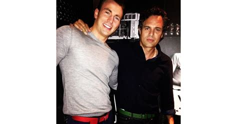Mark Ruffalo showed off his bromance with Chris Evans ...