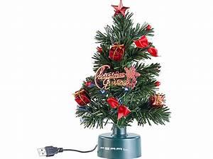 Weihnachtsbaum Mit Led : pearl usb weihnachtsbaum mit led farbwechsel glasfaserlichtern ~ Frokenaadalensverden.com Haus und Dekorationen