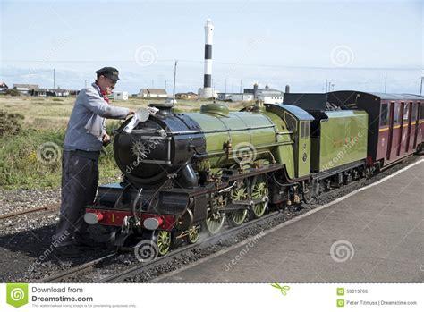 Steam Locomotive Being Polished Dunegess Station Uk