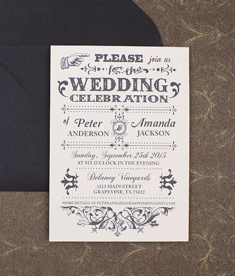 fashioned typography wedding invitation  print