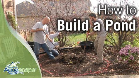 aquascape how to how to build a pond by aquascape