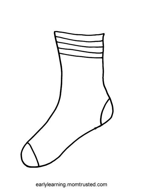 sock template socks for fox printable preschool activities and printablespreschool activities and printables