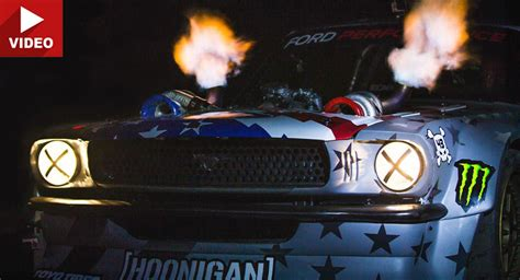 hoonigan mustang twin turbo ken block teases twin turbo 1400 hp 39 hoonicorn v2