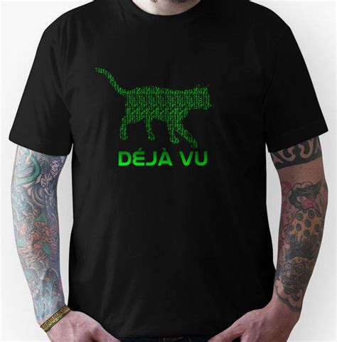 matrix deja vu cat unisex  shirt  redbubble