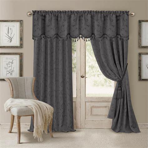 Grey Window Valances by Blackout Gray Blackout Energy Efficient Room Darkening Rod