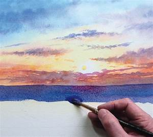 How to paint a sunrise and sunset #watercolor jd | Art 10 ...