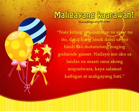 birthday wishes messages  tagalog wordings  messages