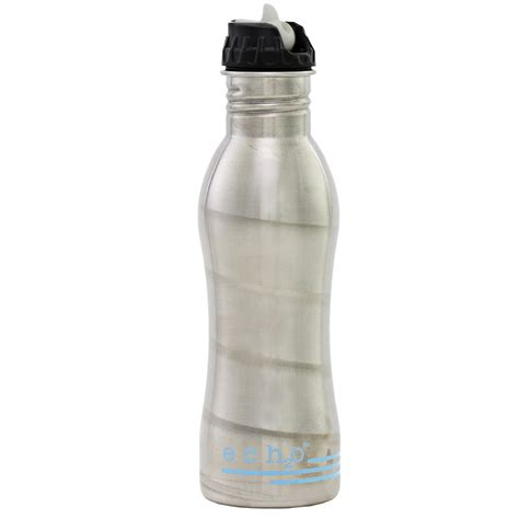EcoUsable Ech2o   Stainless Steel Filtered Water Bottles   The Green Head