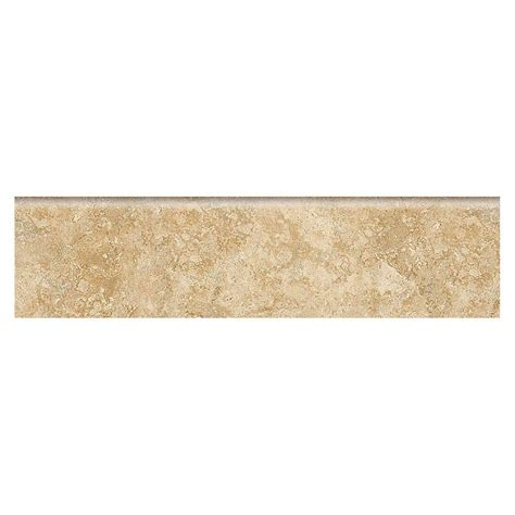 bullnose floor tile daltile fantesa cameo 3 in x 12 in glazed porcelain floor and wall bullnose tile