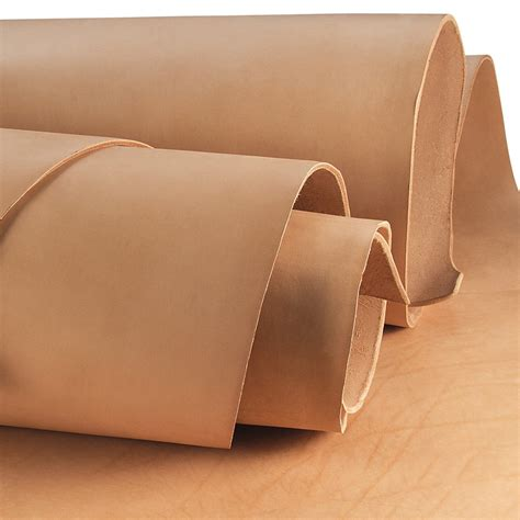 veg saddle skirting natural tan leather side