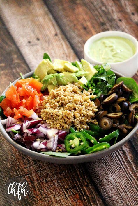 vegan taco salad  creamy cilantro lime dressing