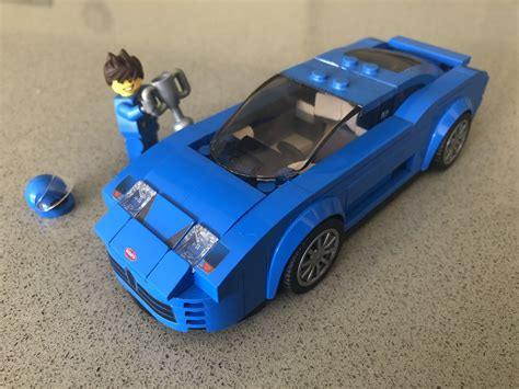 This is build instructions of a lego 2018 bugatti chiron moc, that is 6 pieces wide. LEGO IDEAS - Bugatti EB110 Lego Speed Champions