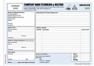 Invoice books for plumbers personalised duplicate pads for Plumbing invoice book