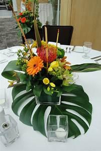 Deco Table Tropical : tropical floral centerpieces wedding flowers decorations pinterest glasses centerpieces ~ Teatrodelosmanantiales.com Idées de Décoration