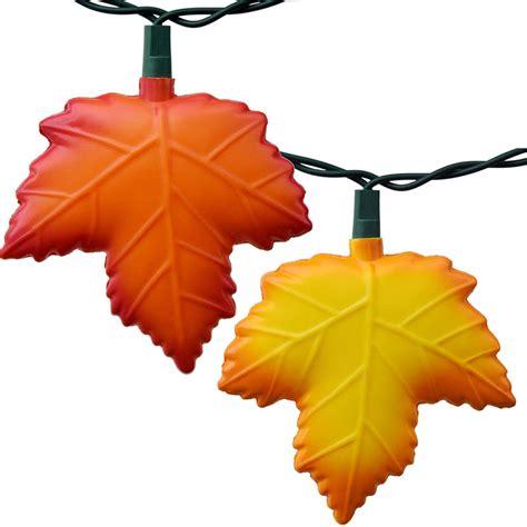fall string lights autumn leaf string lights 10 lights