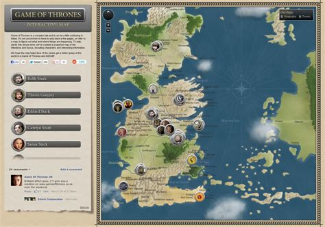 game  thrones interactive map visually