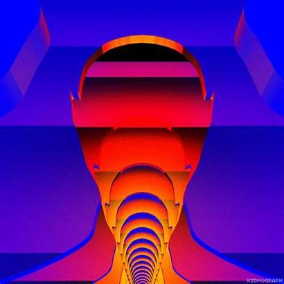 Retro Gifs Synthwave Tron Futuristic Kidmograph Animated