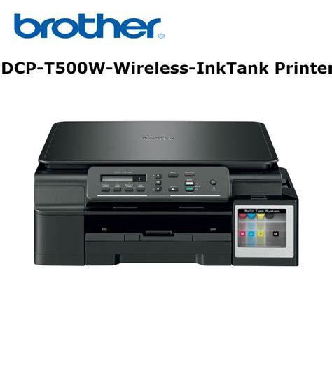 Printer Dcp T500w Black dcp t500w multi function wireless ink tank printer