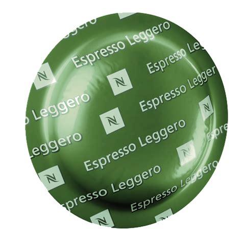 espresso leggero nespresso nespresso pro espresso leggero 50 box nel50
