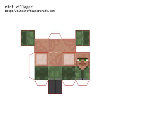Papercraft Mini Villager (green Robe)