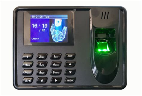 attendance machine fingerprint scanner pin system