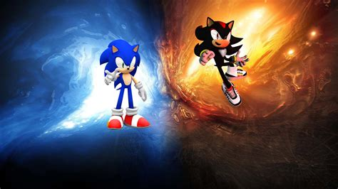 Sonic The Hedgehog Desktop Backgrounds Sonic And Shadow Wallpaper Full Hd Pictures