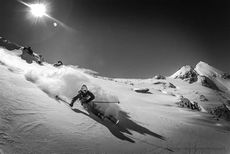 B&W GoPro Powder Skiing | see more of my work here ...