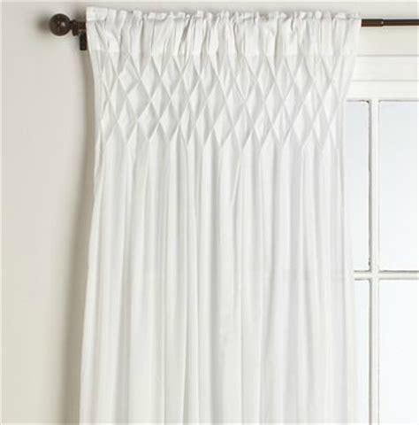 Smocked Curtains Drapes - pottery barn smocked drape look 4 less