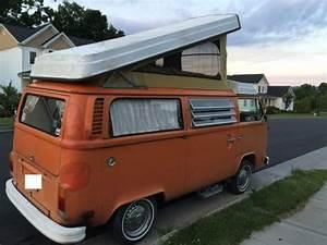 1974 Vw Bus Popup Camper Westy Van Westfalia No Rust Sink Fridge Range