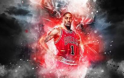 Derrick Rose Bulls Wallpapers Chicago Number Cool