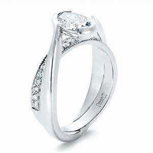 custom interlocking engagement ring 1437 With interlocking engagement ring and wedding band