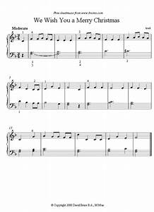piano we wish you a merry christmas sheet music 8notes With christmas letters musical