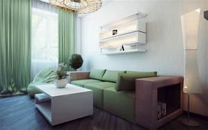 White green living room interior design ideas for White and green living room