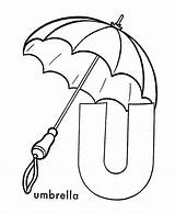 Umbrella Coloring Letter Pages Alphabet Printable Preschool Abc Activities Activity Umbrellas Sheets Sheet Worksheets Underwear Honkingdonkey Crafts Clipart Letters Printables sketch template
