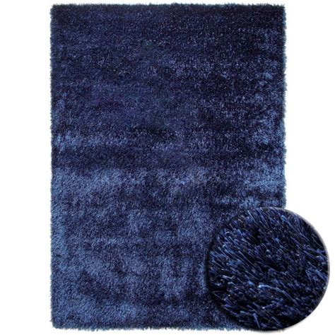 tapis chambre bleu tapis shaggy bleu esprit home