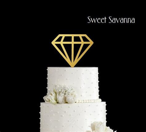 diamond cake toppers engagement cake topper wedding cake
