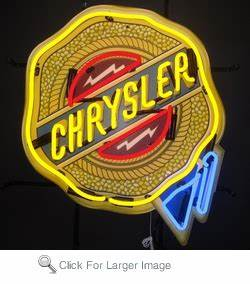 Chrysler Neon Sign only $299 99 Neon Auto Brands Signs
