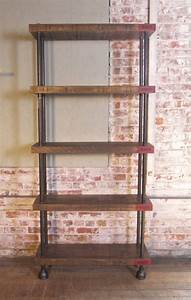 Industrial, Wood, Steel, Pipe, Cast, Iron, Shelving, Storage, Unit, At, 1stdibs