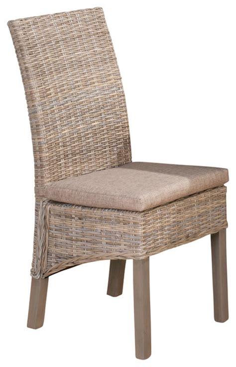 kubu grey dining chair jofran burnt grey kubu rattan with oatmeal linen seat set